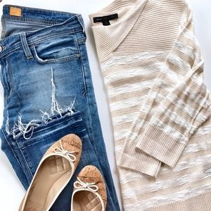 MARC BY MARC JACOBS Cream White Stripe Sweater